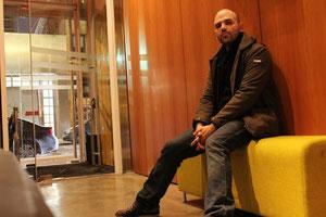 Roberto Saviano, en un hotel en Nueva York.