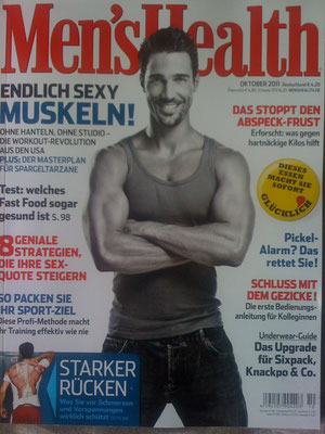 Cover men's health magazine