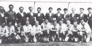 Die erfolgreiche 1. und 2. Mannschaft Mitte der 50er Jahre