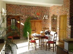 authenticité et chaleur de la brique  gîte rural Saint Quentin Aisne Laon Noyon Compiegne Peronne