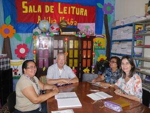 Planungsgespräch mit den Leiterinnen Gorete, Suely und Valberlene