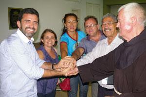 Begegnung mit dem Bürgermeister von Crato und gleichzeitig Absprache über Zusammenarbeit