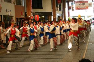 高知「よさこい祭り」で踊る夢舞隊