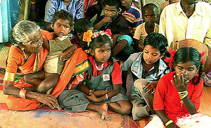 Irular children in Balwadi (pre-school).