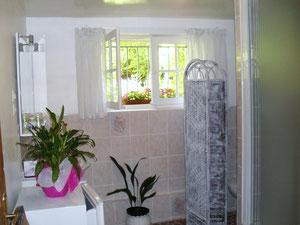 Salle de bains attenante avec douche.
