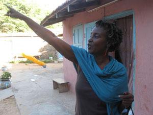 A l'école de l'île de Gorée où elle a grandi