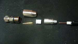 F型接栓の部品