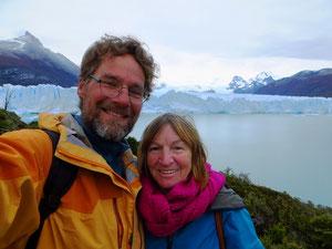 Am imposanten Gletscher Perito Moreno.