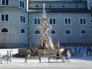 city walking tour in Salzburg with local guide: Residence Fountain