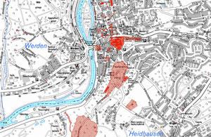 Denkmalkarte der Stadt Essen (Ausschnitt Werden)