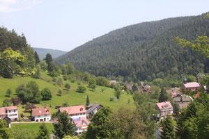 Aussichtspunkt oberhalb Enzklösterle