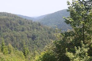 Ausblick unterhalb der Spitzhütte