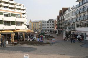 Bild: Der zentrale Bereich von Duhnen unweit der Ferienwohnungen der Residenz Meeresbrandg