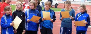 Die jungen Nachwuchstalente zeigten vollen Einsatz im heimischen Stadion.