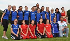 Die weibliche U16-Mannschaft der StG Rhede-Sonsbeck-Wesel hofft auf Unterstützung durch das heimische Publikum.