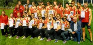 Das sind die erfolgreichen Leichtathleten aus Rhede, Wesel und Sonsbeck.