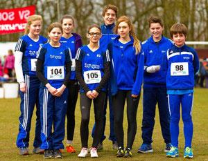 Die erfolgreichen Nachwuchsläufer des traditionellen Frühjahrswaldlaufs in Sonsbeck