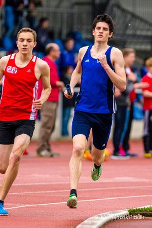 Die U18-Staffel mit Startläufer Janek Betting lief ein enorm starkes Rennen.