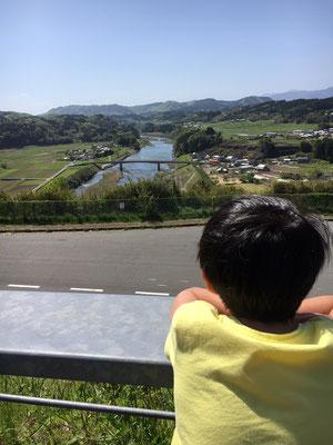 息子の好きな景色~その1~「道の駅みえ」からの眺め