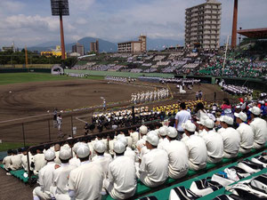 高校野球甲子園大分県大会の開会式の模様です。(撮影:橋本仁さん)