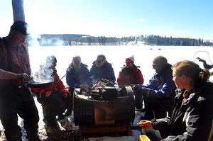 Ruhe  und Entspannung in Lappland