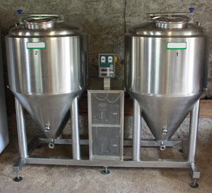 fermenteurs cylindroconiques inox thermorégulés fermentation primaire garde à froid Roanne