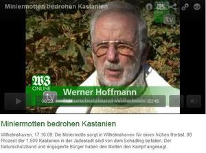 Werner Hoffmann (NABU) - im Kampf gegen die Miniermotte