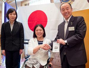 左から、PAJ高田、PAJ大日方、三村稔隆会長
