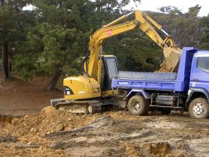 基盤工 良質土掘削・搬出