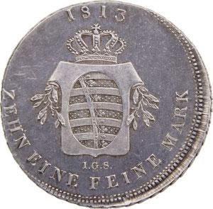 Speciestaler Sachsen 1813, Friedrich August I., Erlös 6900€
