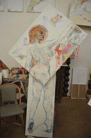 Jean-François Comte. Son atelier-galerie est situé à Saint Germer de Fly, dans l'Oise, mais proche de Paris. Les Chambres de l'Abbaye vous y accueillent.