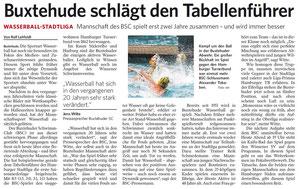 Buxtehude schlägt Tabellenführer. Harburger Anzeiger und Nachrichten vom 28.08.2013