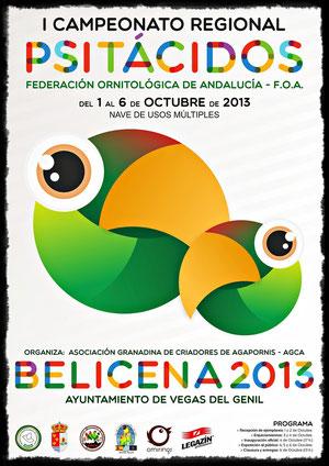 aviario miguel granada, I concurso regional psitacidos FOA federacion ornitologica de andalucia 2013