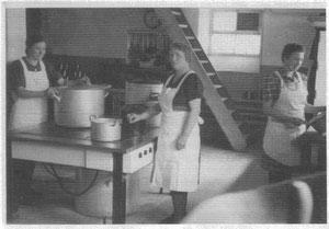 Küche der EGO in den 1950er Jahren