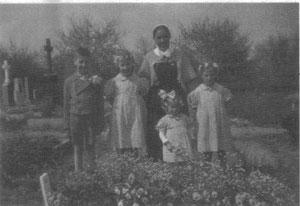 Friedhof von Großvillar in den 1940er Jahren