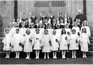 Weißer Sonntag in Flehingen 1950