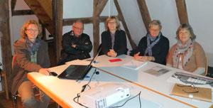 Team - Besprechung zur Fotoausstellung im Dezember
