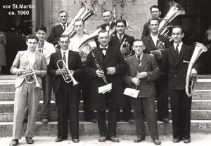 Musikkapelle vor St-Martin ca 1960