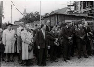 Richtfest neues Schulhaus Flehingen 1957