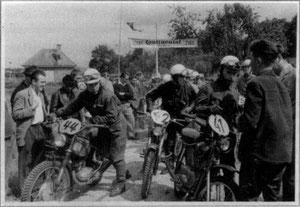 Motorradrennen in Derdingen 1950