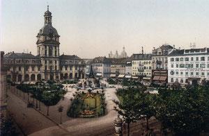 Mannheim, Paradeplatz um 1910