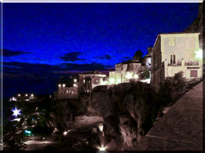 Calabria - Amantea, panorama notturno