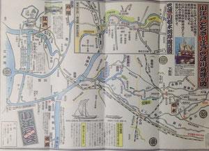小江戸とちぎ⇔江戸 巴波川(うずまがわ)舟運の図