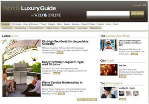 Memphis Pro Pelletgrill im World's Luxury Guide der WELT
