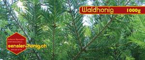 Etikette unseres Waldhonigs