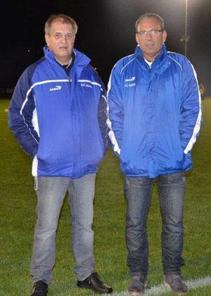 Die ehemaligen Trainer von links nach rechts Stefan Grunder und Rolf Zuppinger