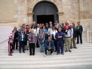 El grupo en la Iglesia de San Juan de Blanca