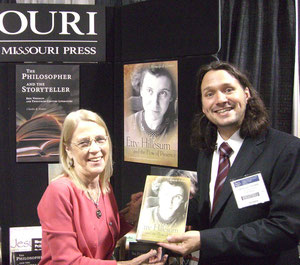 Beverly Jarrett (University of Missouri Press) and Meins Coetsier (Ugent) in Boston, 2008