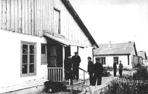 Бараки на ул. Строителей, в которых жили военнопленные, репрессированные  граждане.