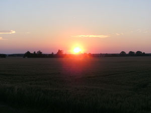 sunset in Burgenland